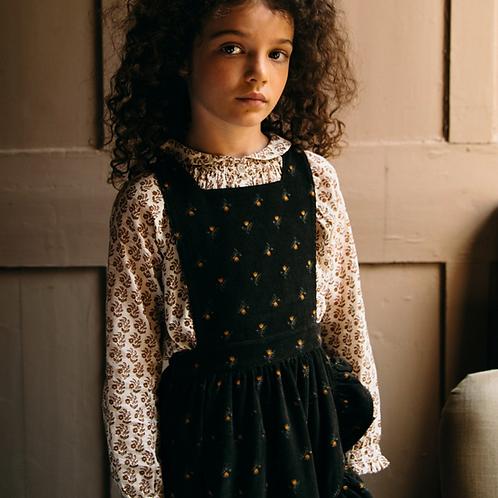 Emile et ida -  Daffodil Velvet Girl Dungarees Skirt