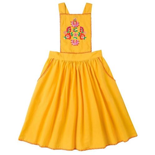 [Pre-Order] Kidsagogo - Marie Pinnie Dress Marigold