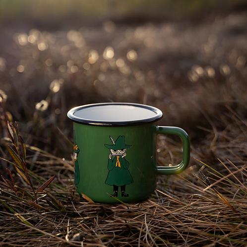 Moomin enamel mug Retro Snufkin 370ml - Muurla