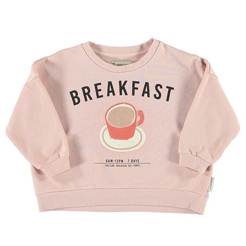 Piupiuchick - Unisex sweatshirt | light pink w/ breakfast print