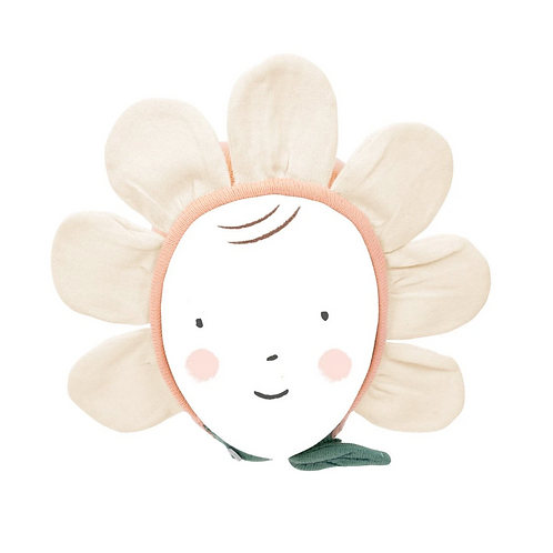 Meri Meri - Peach Daisy Baby Bonnet