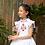 Thumbnail: Kidsagogo - Marie Pinnie Dress White/Hot