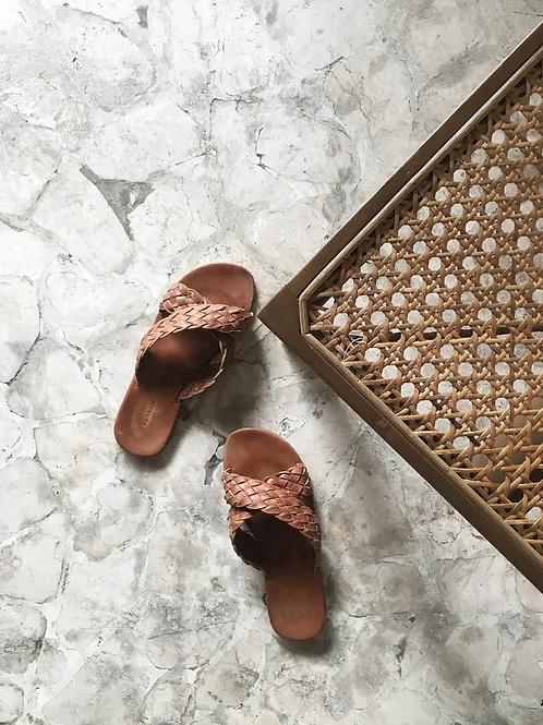 Scandic Gypsy - Woven Leather Maja Sandal