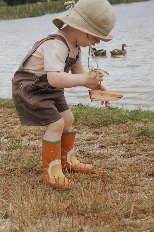 Grech & Co. CHILDREN'S RUBBER BOOTS - RUST