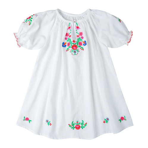[Pre-Order] Kidsagogo - Nina Dress White/Hot