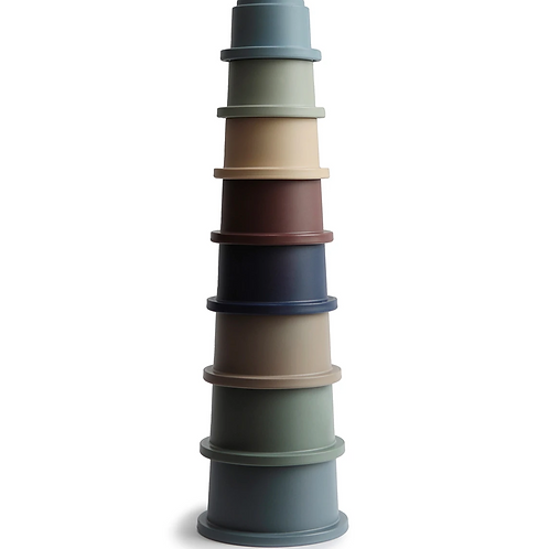 Mushie - Stacking Cups Toy  (Forest)