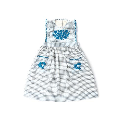 LALI - CLOVER DRESS - WHITE CHEX