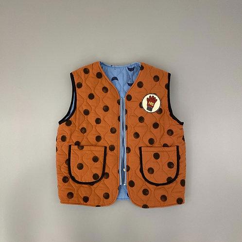En:Paper - Quilted Vest Orange & Blue
