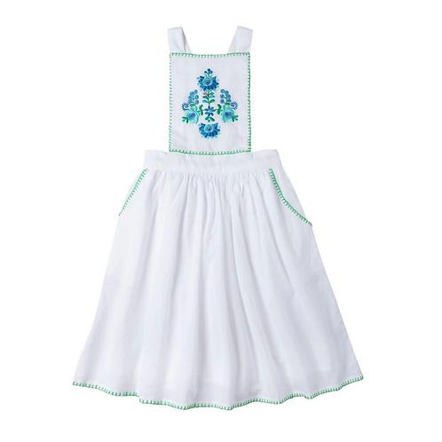 [Pre-Order] Kidsagogo - Marie Pinnie Dress White/Cool