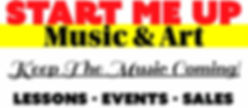 start me up music & art banner