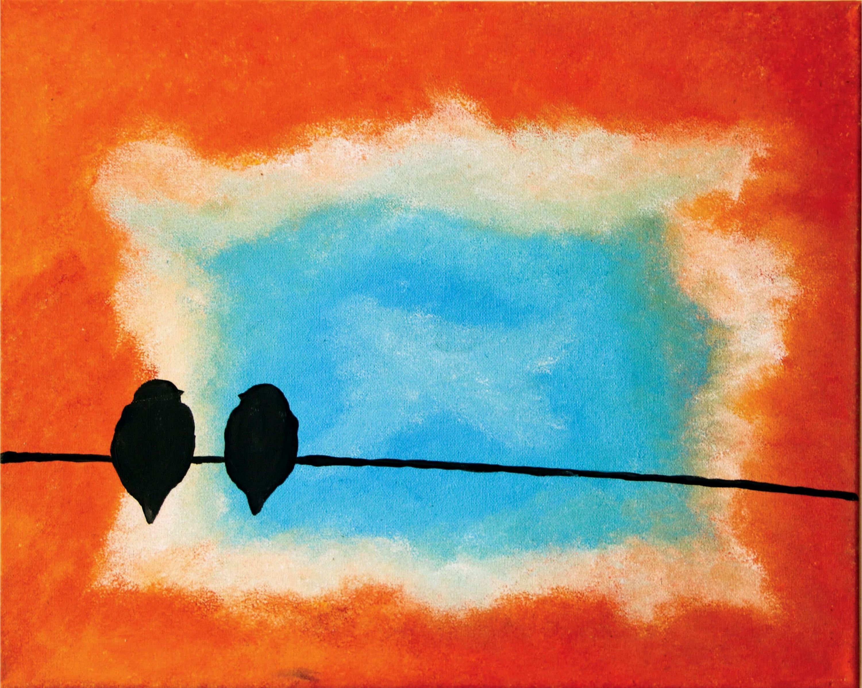 2 Doves Painting