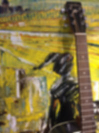 guitar and painting