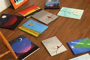Paintings on the floor