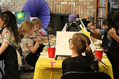 children painting edmonton