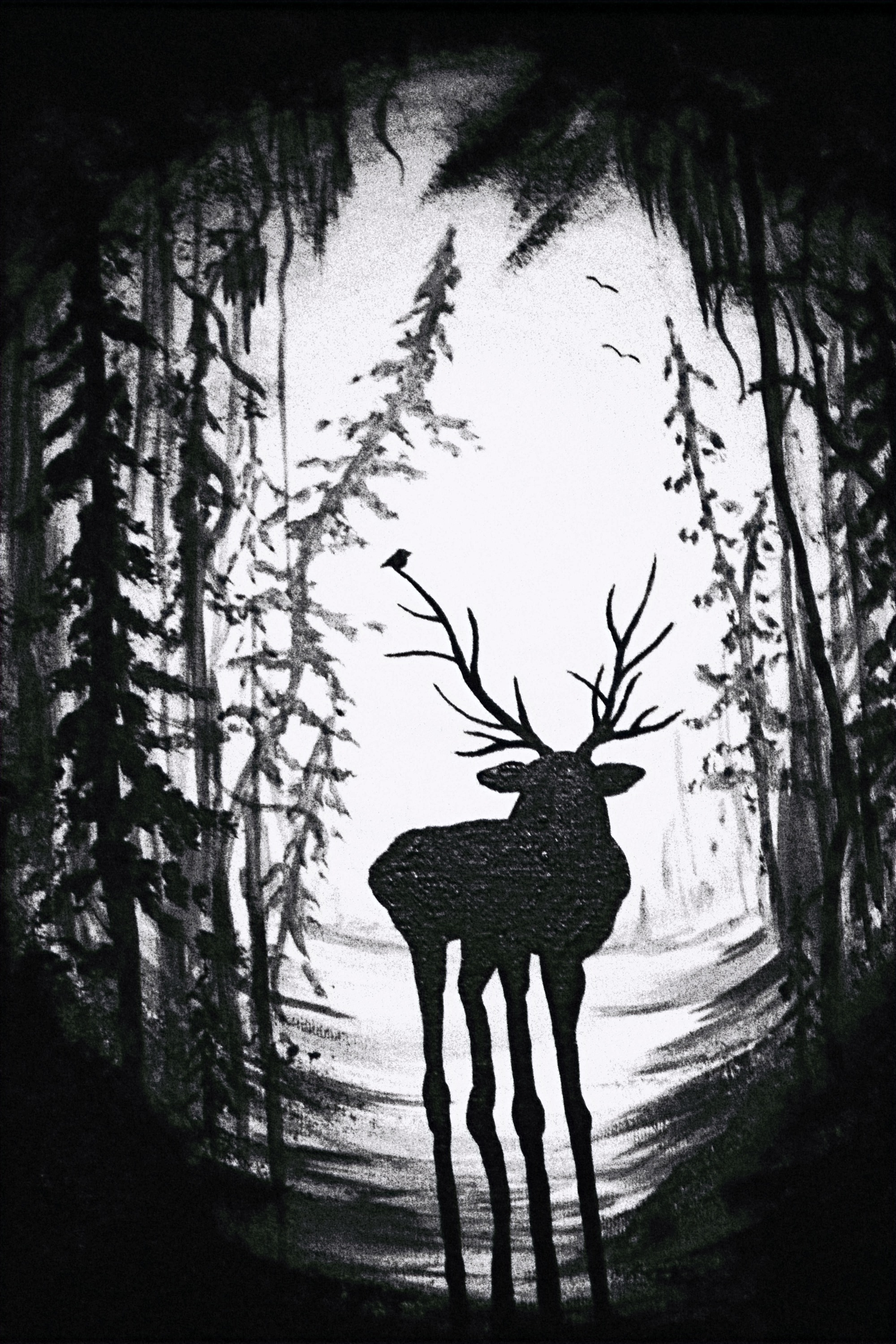 Moose Deer Painting #2