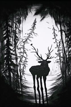 Moose Deer Painting #2