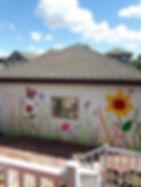 garage wall mural