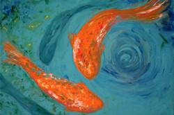 Koi Pond Painting