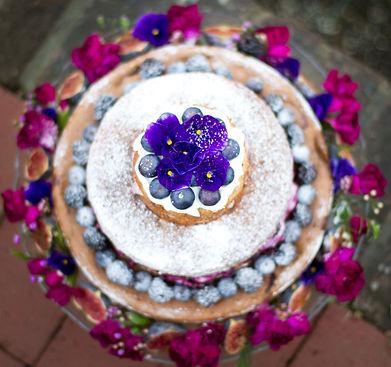 naked flower cake
