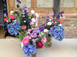 Flowers ready for the castle
