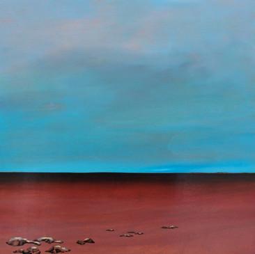 Scarlet Sea Under a Cerulean Sky