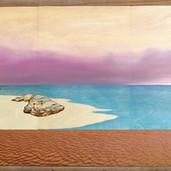 Big Purple Horizon with lacewood