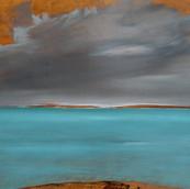 Doorway: Cerulean Sea and Grey Sky