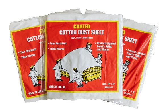 Premium Coated Cotton Dust Sheet 12 x 9ft