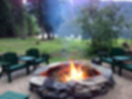 Special Flat Rock 7 foot Fire Ring at Pelly Peak Lodge