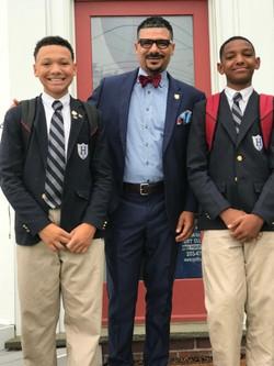 C Prep Harbor Students & My Sons