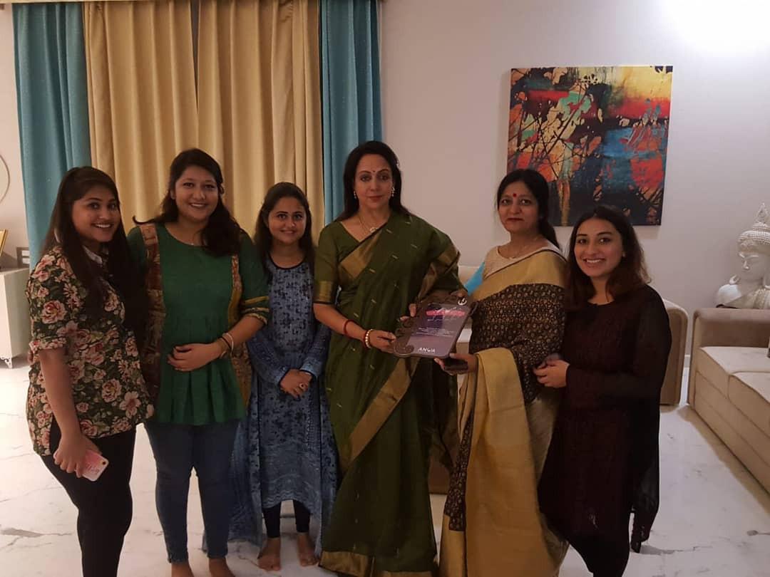 Meeting with Hema Malini Ji at her resideence