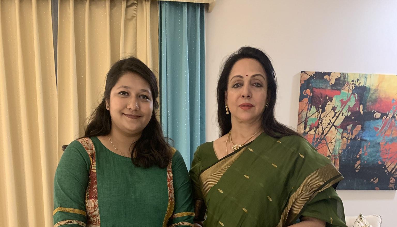 Meeting with Hema Malini Ji at her residence