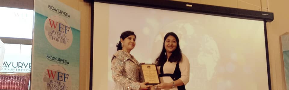 "Women Economic Forum ""Young innovator creating a better world for all"" Award"" (2019)"