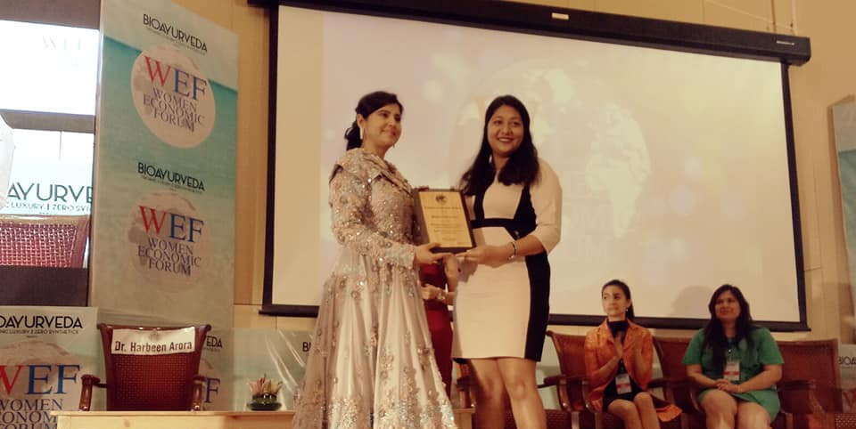 """Women Economic Forum """"Young innovator creating a better world for all"""" Award"""" (2019)"""