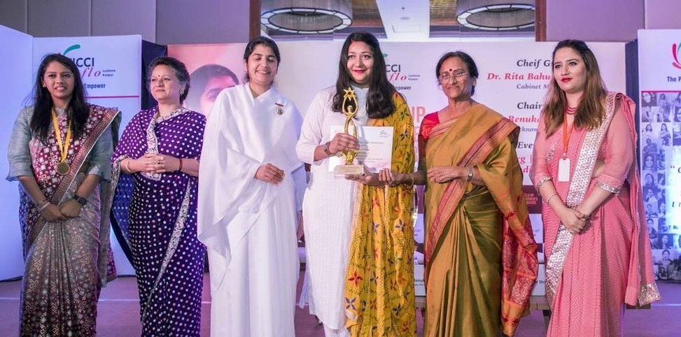 """FICCI FlO UP Award for """"Outstanding work for skilling women in sustainable livelihoods"""" (2019)"""