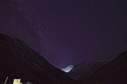 Milky way over Mt Olympus