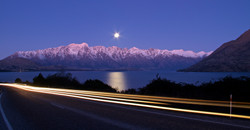 Moon light over the Remarkables