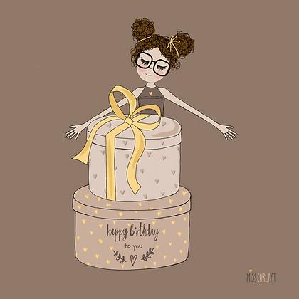 """Klappkarte """"Happy Birthday - runde Box"""""""