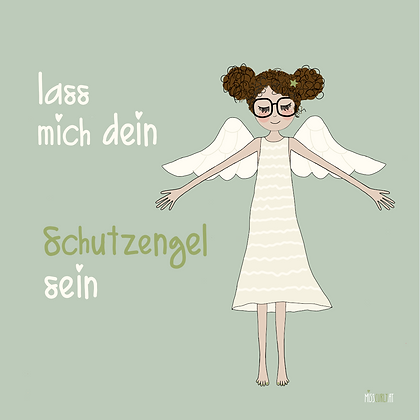 """Klappkarte """"Schutzengel"""""""