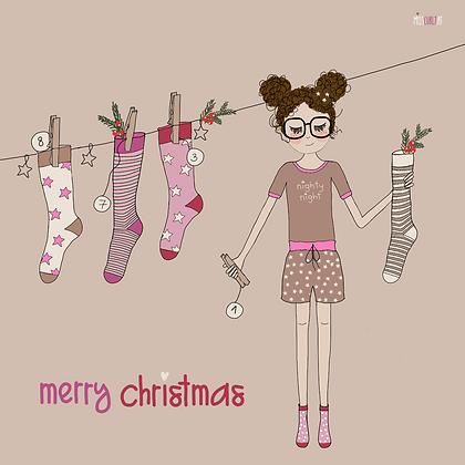 """Klappkarte """"Weihnachten Socken"""""""