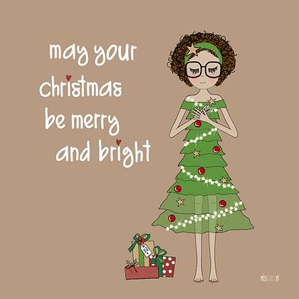 """Klappkarte """"Weihnachten Kleid"""""""