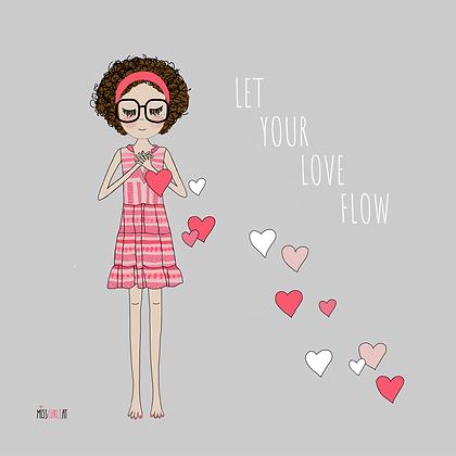 """Klappkarte """"let your love flow"""""""