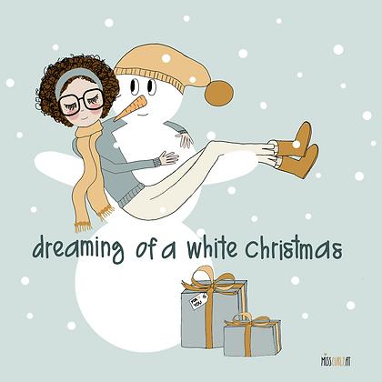 """Klappkarte """"Weihnachten Schneemann"""""""
