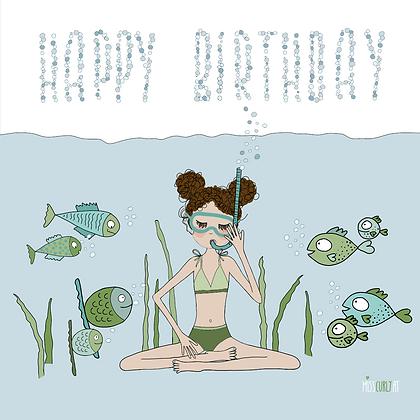 """Klappkarte """"Happy Birthday - Fische"""""""