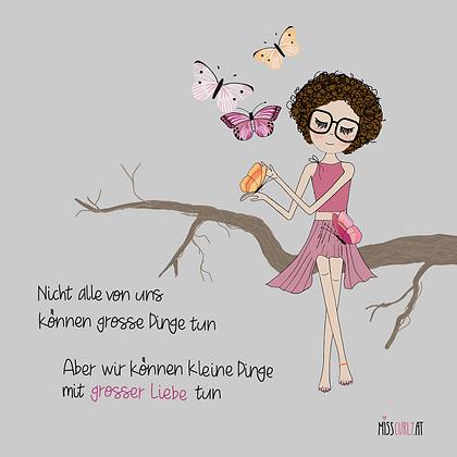 """Klappkarte """"Kleine Dinge mit großer Liebe"""""""