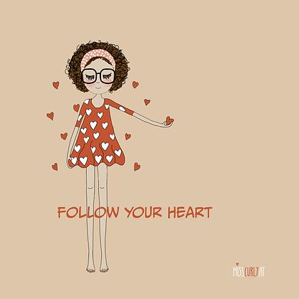 "Notizblock ""follow your heart"""