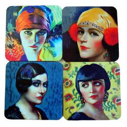 Art Deco Deco Divas Coaster set