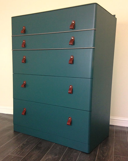 Mid Century Modern Vintage Painted Upcycled Art Deco Chest Of Drawers