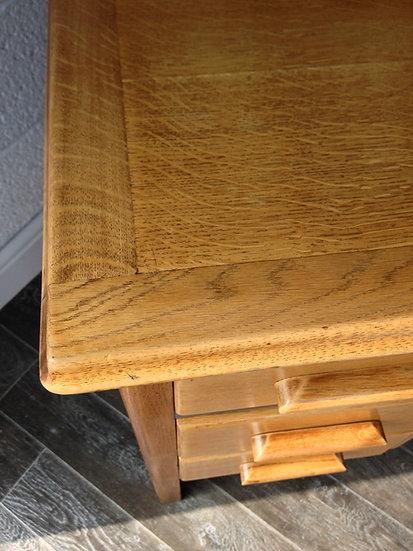 Mid Century Modern, twin pedestal, Astrola Oak desk, Vintage, Abbess style desk