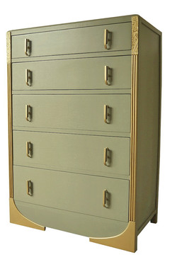 Art Deco Chest of drawers, 1930s, painte